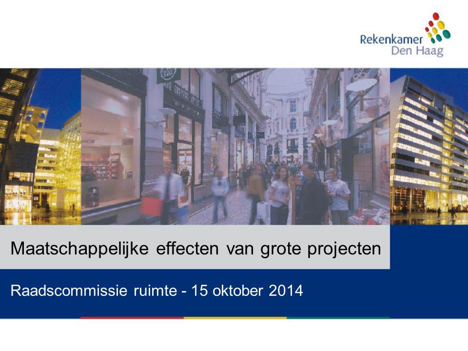Raadscommissie ruimte - 15 oktober 2014 Maatschappelijke effecten van grote projecten