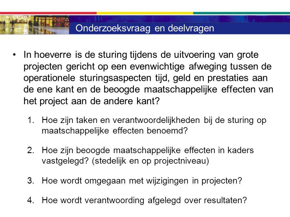Aanpak onderzoek Documentanalyse: beleidskaders, procesafspraken, verantwoordingsinformatie, P&C-cyclus -Structuurvisie -Coalitieakkoorden -Investeringsplan Stedelijke Ontwikkeling (IpSO) -Woonvisie -Kantorenstrategie Casus analyse: Binckhorst Moerwijk Zuid