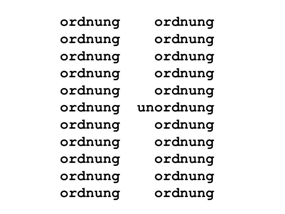 Een Duits gezegde luidt: Ordnung muss sein.