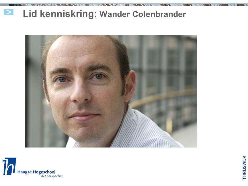 Lid kenniskring: Wander Colenbrander