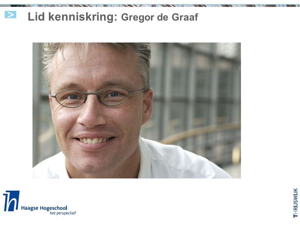 Lid kenniskring: Gregor de Graaf