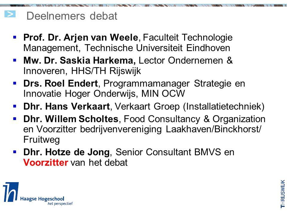Deelnemers debat  Prof. Dr.