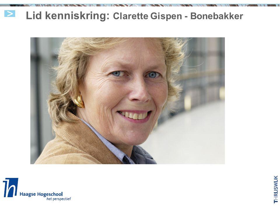 Lid kenniskring: Clarette Gispen - Bonebakker