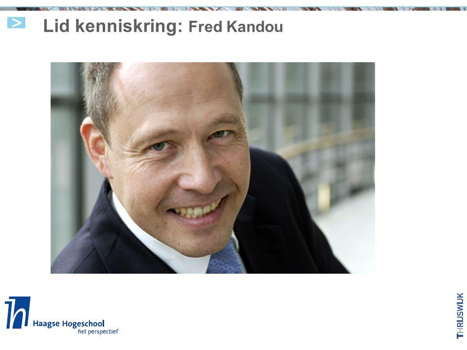 Lid kenniskring: Fred Kandou