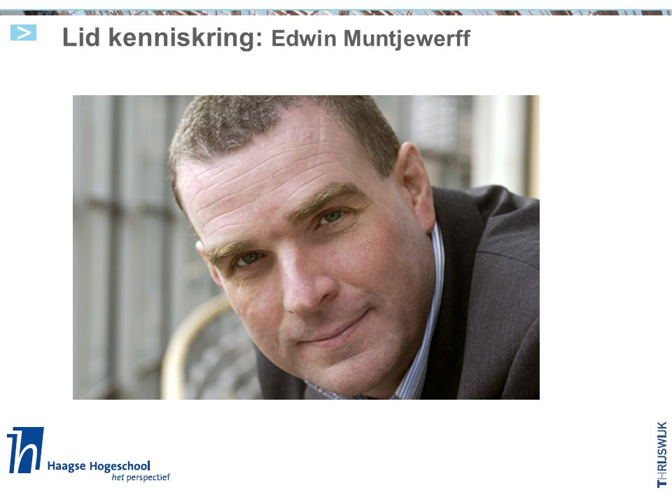 Lid kenniskring: Edwin Muntjewerff