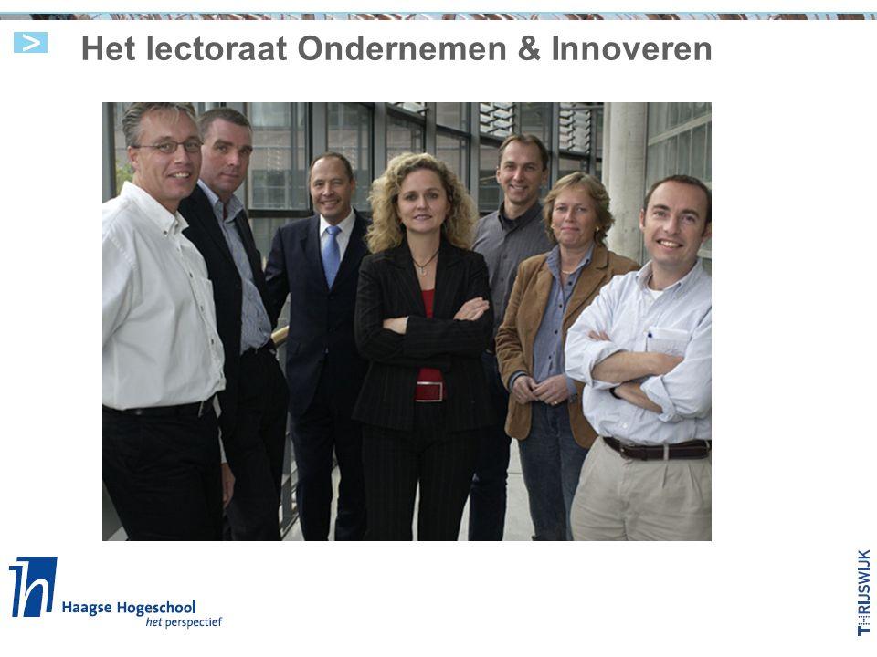 Het lectoraat O&I - kenniscirculatie Missie Door vernieuwing in denken en doen, zijn wij er om innovatie en ondernemerschap te stimuleren, ondersteunen en te verbeteren op basis van interactie tussen de Haagse Hogeschool, en de economie en samenleving in de regio Haaglanden.