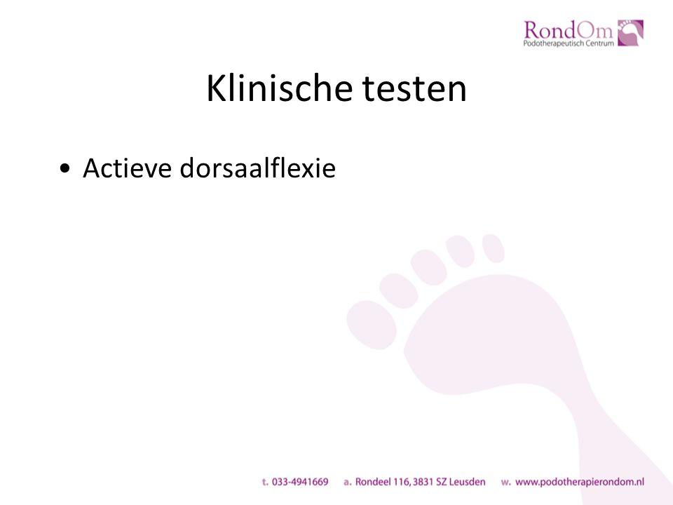 Klinische testen Actieve dorsaalflexie