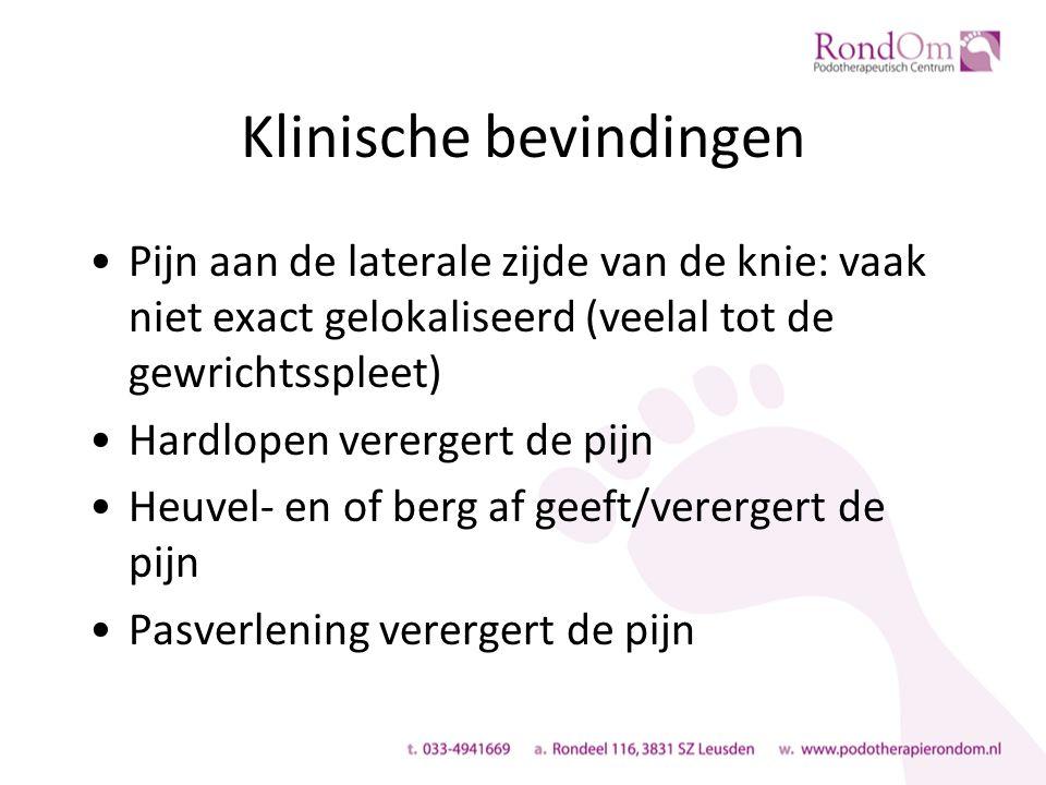 Definitie Pijn aan de posteromediale zijde van het onderbeen, dat toeneemt bij inspanning en verminderd in rust en pijn dat reproduceerbaar is bij palpatie over een lengte van minimaal 5 cm