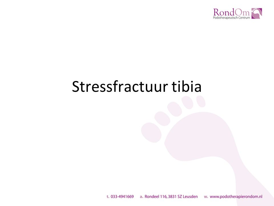 Stressfractuur tibia