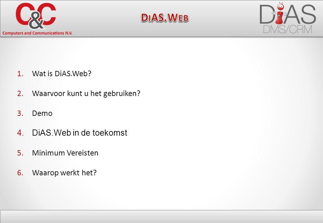 1.Wat is DiAS.Web. 2.Waarvoor kunt u het gebruiken.