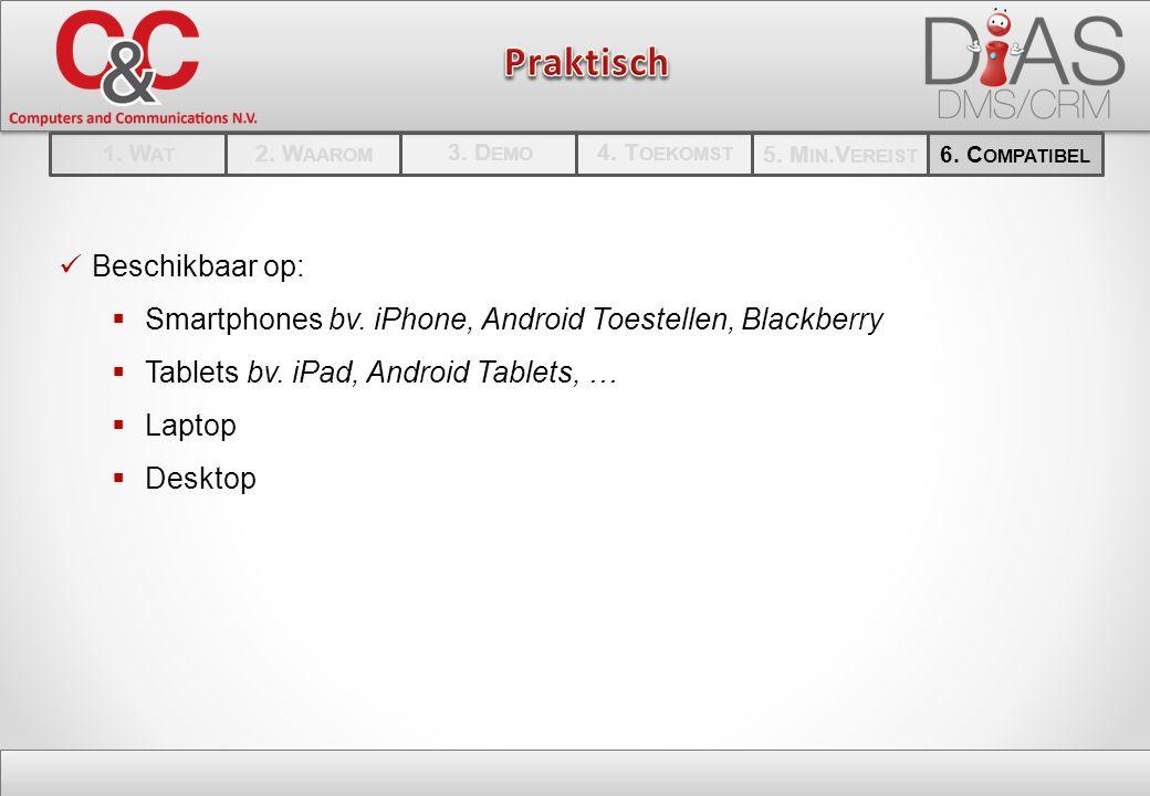 Beschikbaar op:  Smartphones bv. iPhone, Android Toestellen, Blackberry  Tablets bv.