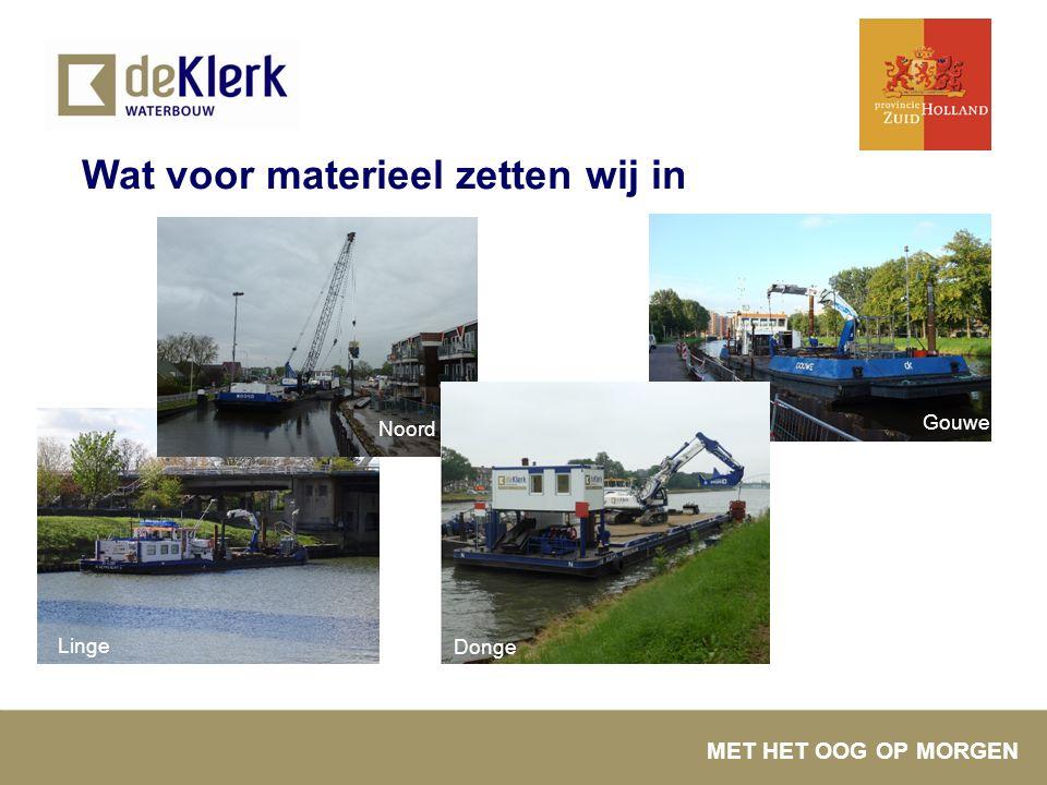 MET HET OOG OP MORGEN Wat voor materieel zetten wij in Linge Gouwe Noord Donge