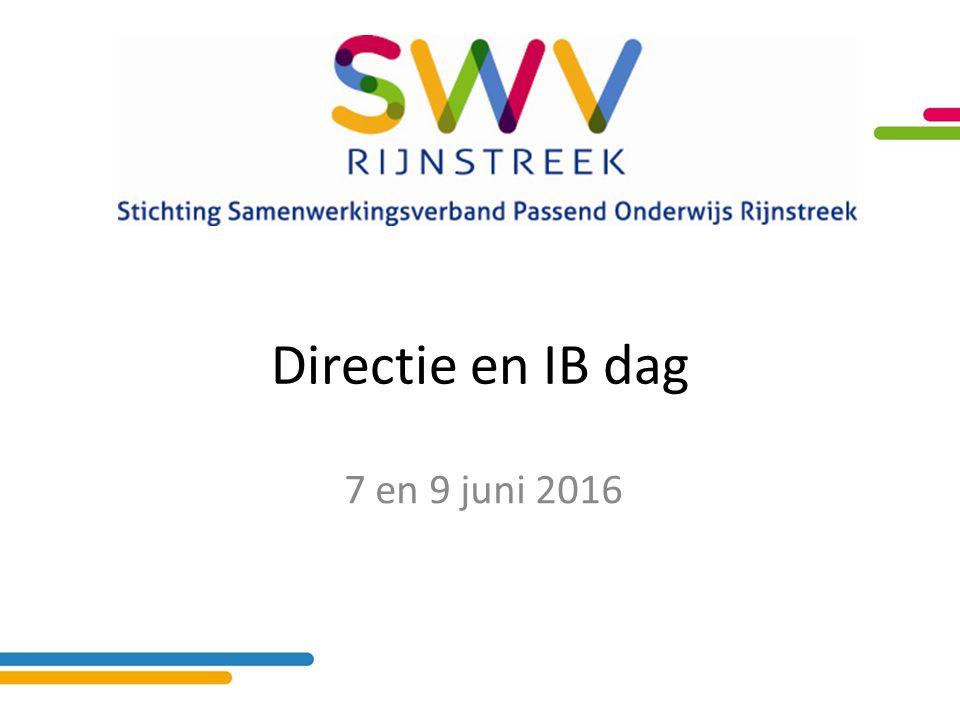 Directie en IB dag 7 en 9 juni 2016