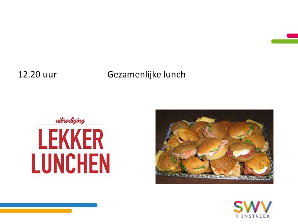 12.20 uurGezamenlijke lunch