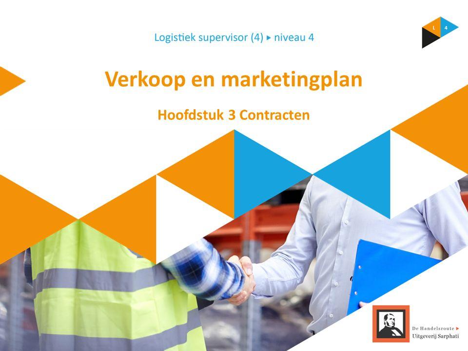 Verkoop en marketingplan Hoofdstuk 3 Contracten