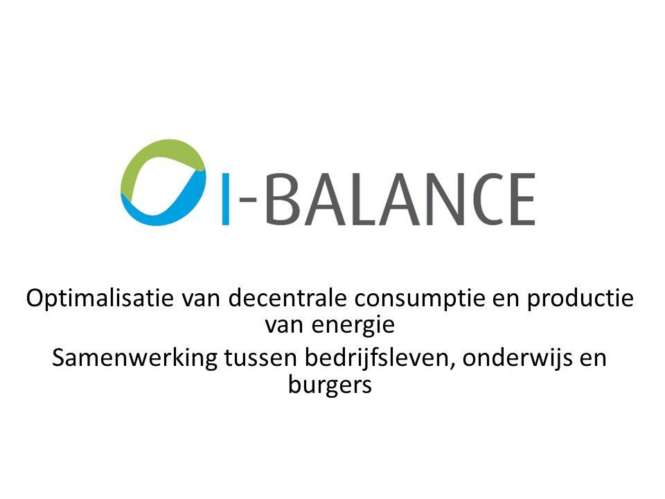 Optimalisatie van decentrale consumptie en productie van energie Samenwerking tussen bedrijfsleven, onderwijs en burgers