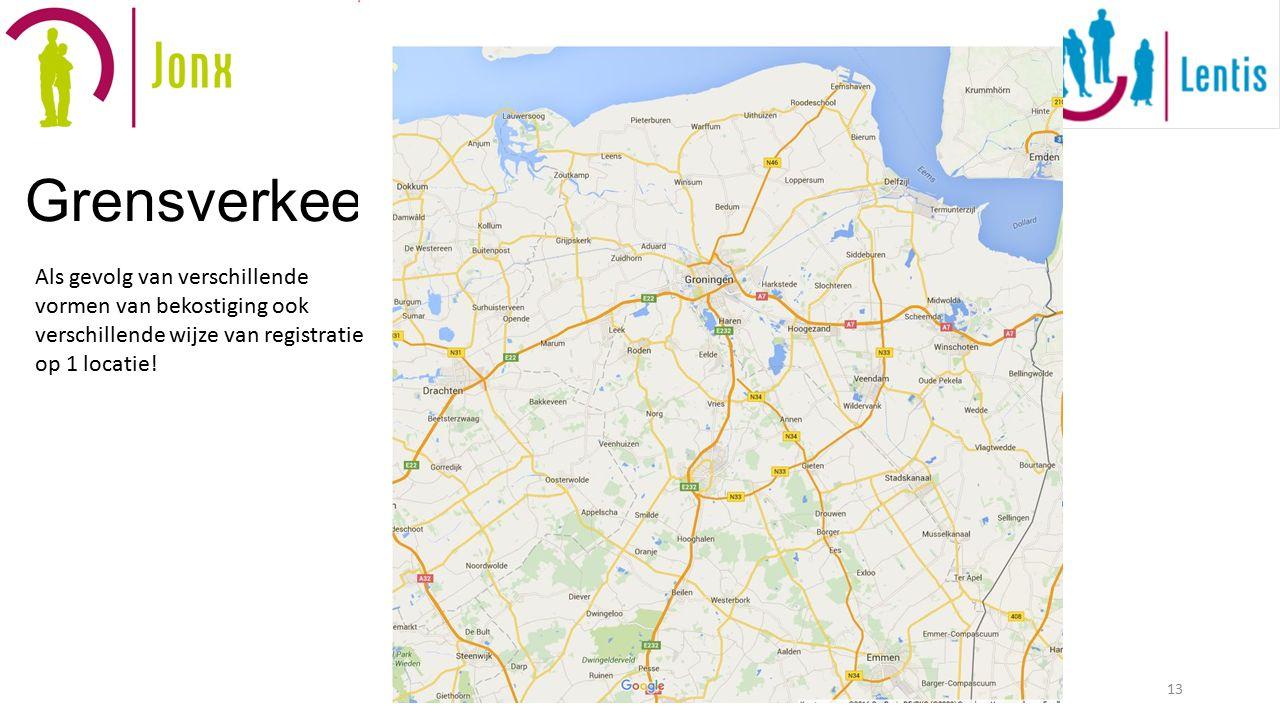 Grensverkeer 13 Als gevolg van verschillende vormen van bekostiging ook verschillende wijze van registratie op 1 locatie!