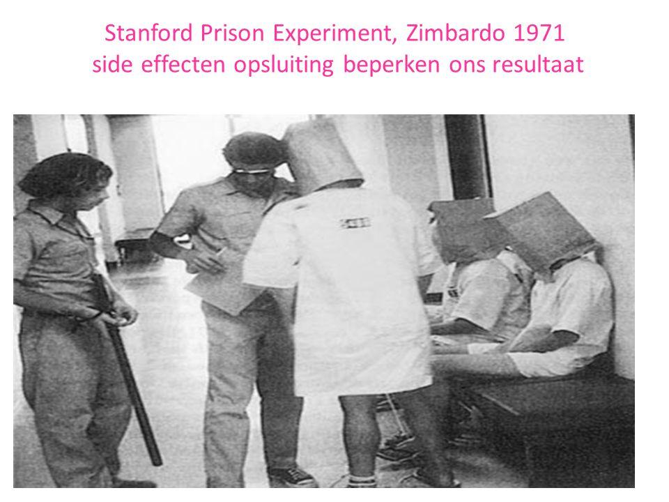 Stanford Prison Experiment, Zimbardo 1971 side effecten opsluiting beperken ons resultaat