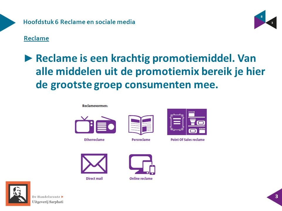 Hoofdstuk 6 Reclame en sociale media ► Reclame is een krachtig promotiemiddel.