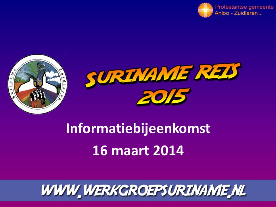 Informatiebijeenkomst 16 maart 2014