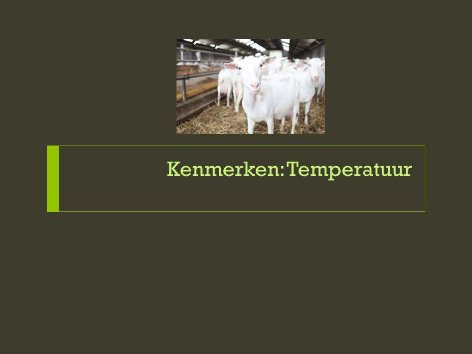 Deel 1: Kenmerken (TEMP) Een dier voelt zich het best in de comfortzone en presteert dan het best