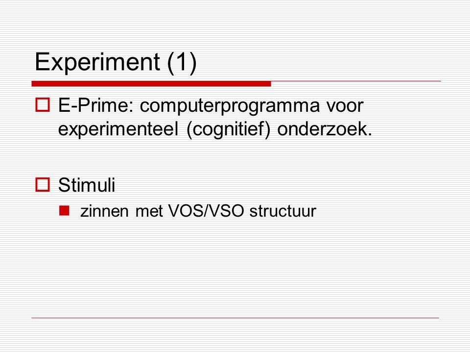 Experiment (1)  E-Prime: computerprogramma voor experimenteel (cognitief) onderzoek.