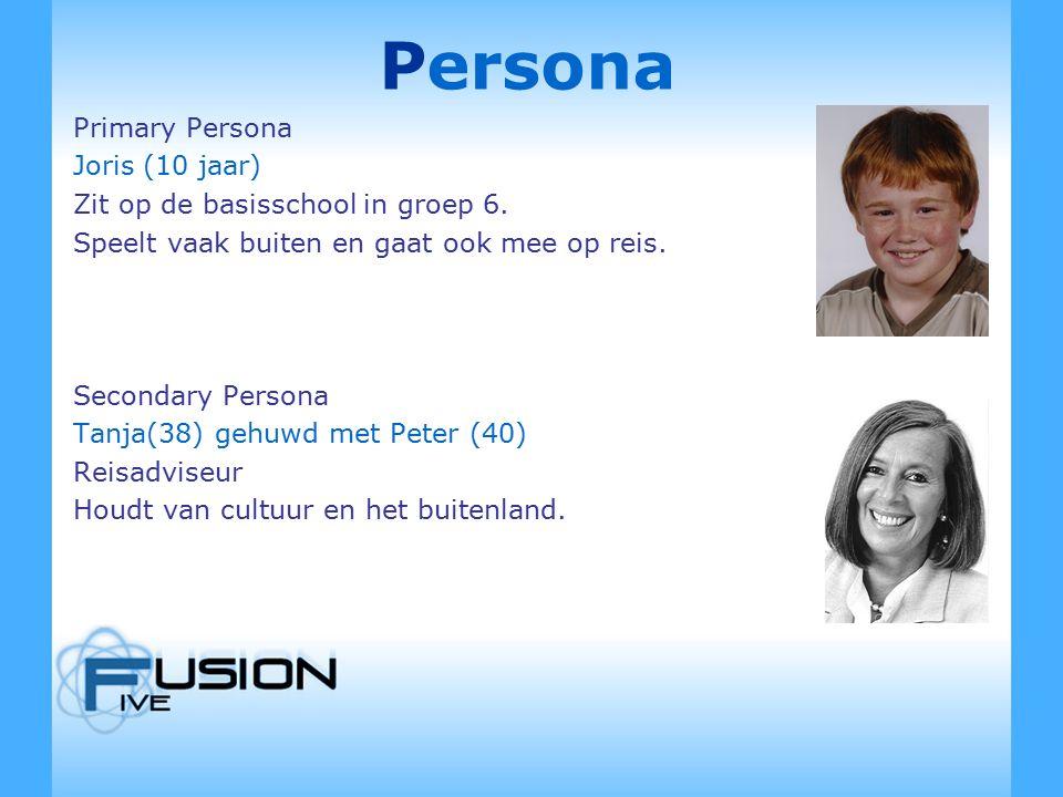 Persona Primary Persona Joris (10 jaar) Zit op de basisschool in groep 6.