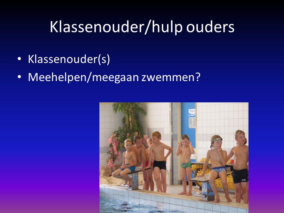 Klassenouder/hulp ouders Klassenouder(s) Meehelpen/meegaan zwemmen?