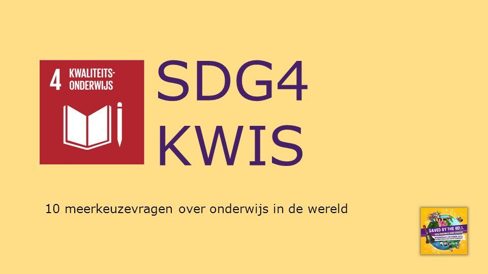 SDG4 KWIS 10 meerkeuzevragen over onderwijs in de wereld