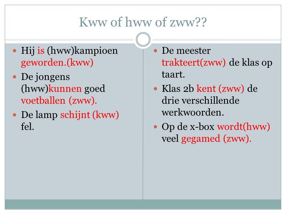Kww of hww of zww?.
