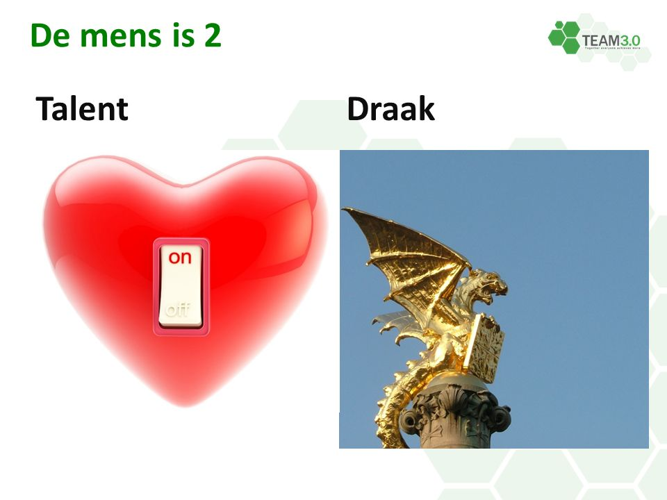 De mens is 2 Talent Draak