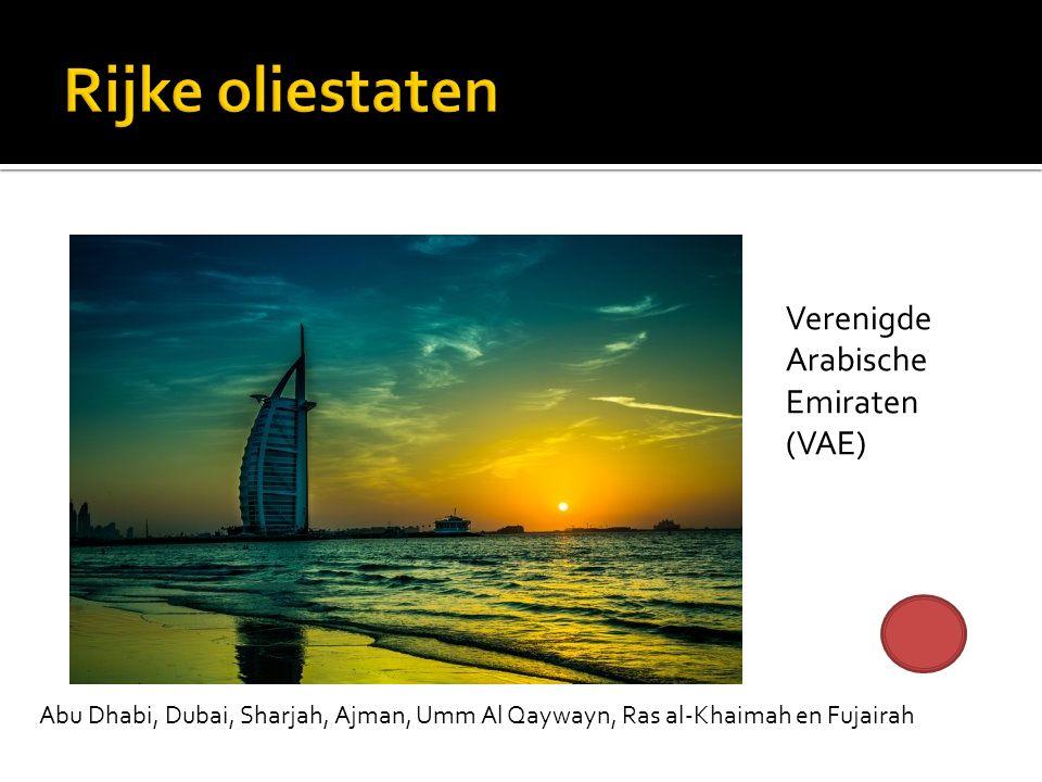 Verenigde Arabische Emiraten (VAE) Abu Dhabi, Dubai, Sharjah, Ajman, Umm Al Qaywayn, Ras al-Khaimah en Fujairah