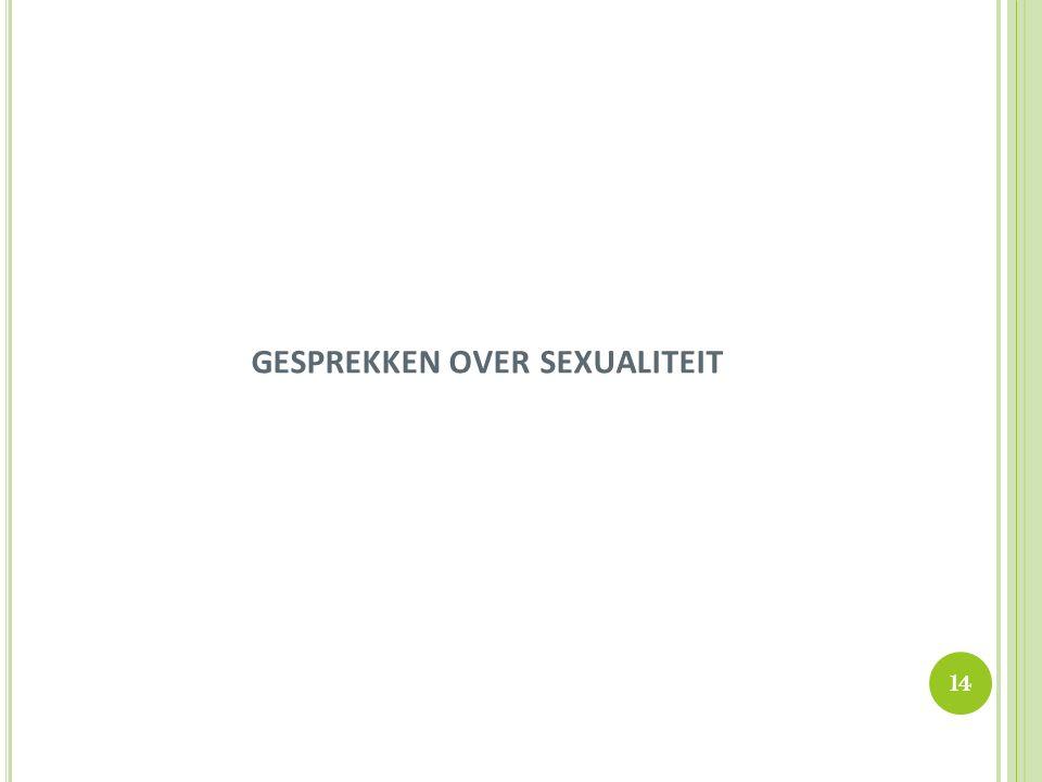 GESPREKKEN OVER SEXUALITEIT 14