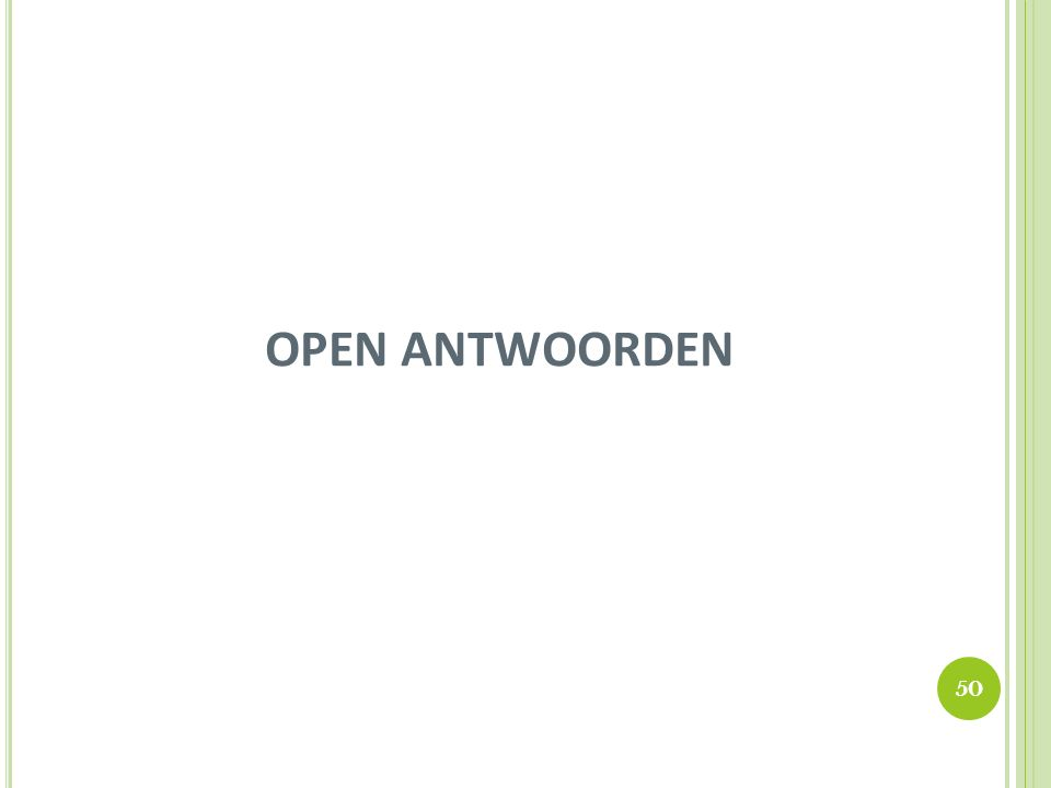 OPEN ANTWOORDEN 50