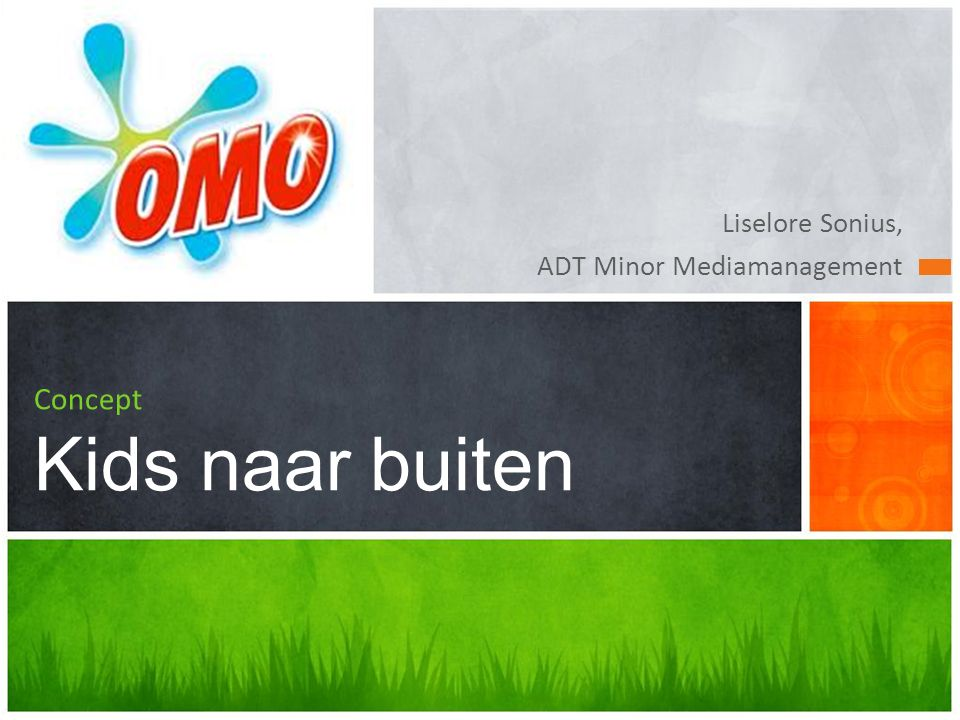 Liselore Sonius, ADT Minor Mediamanagement Concept Kids naar buiten