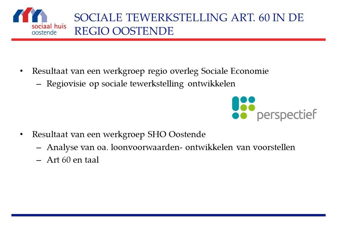 Resultaat van een werkgroep regio overleg Sociale Economie – Regiovisie op sociale tewerkstelling ontwikkelen Resultaat van een werkgroep SHO Oostende – Analyse van oa.