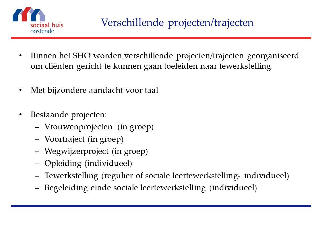 Binnen het SHO worden verschillende projecten/trajecten georganiseerd om cliënten gericht te kunnen gaan toeleiden naar tewerkstelling.