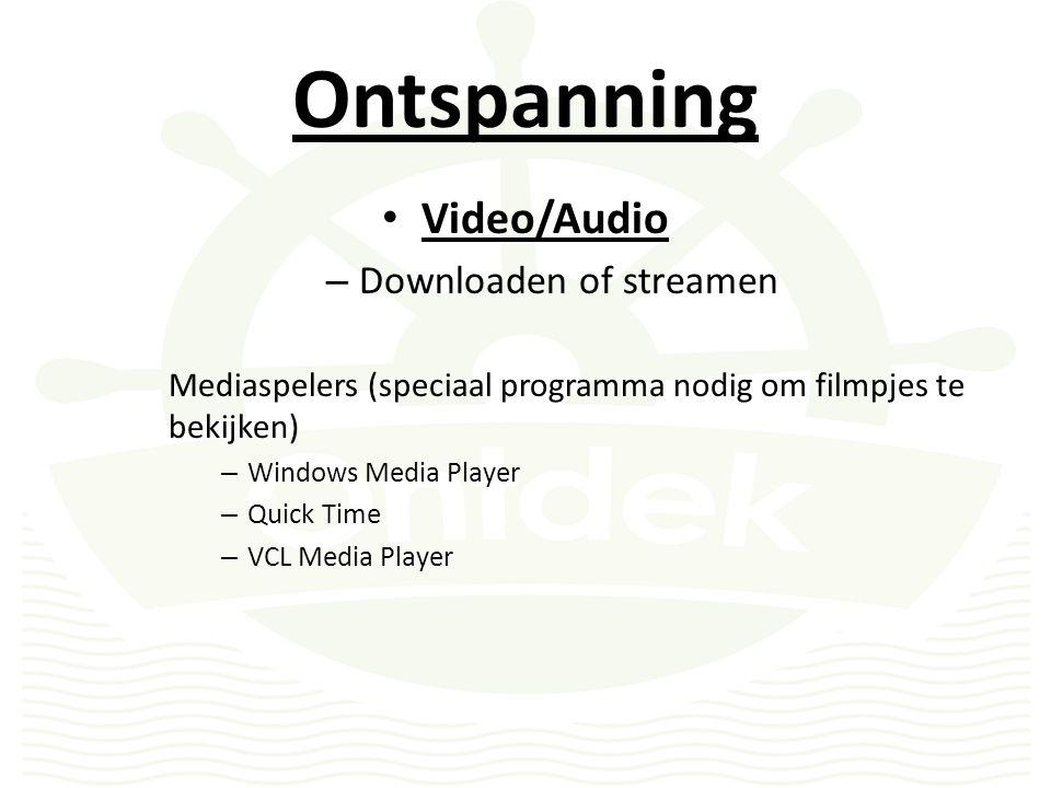Ontspanning Video/Audio – Downloaden of streamen Waar vindt u filmpjes en audio.