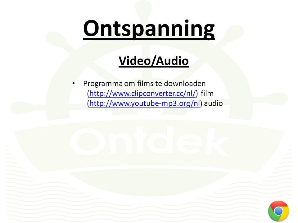 Ontspanning Radiozenders – overal in de wereld te beluisteren – Waar vindt u internetradio's www.belgie.fm www.internet-radio.com (selectie op genre) www.internet-radio.com