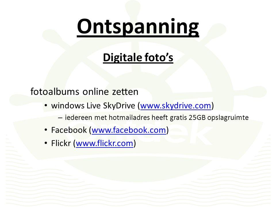 Ontspanning Online fotodiensten CEWA photoservice be.foto.com delhaize, kruidvat, e.a.