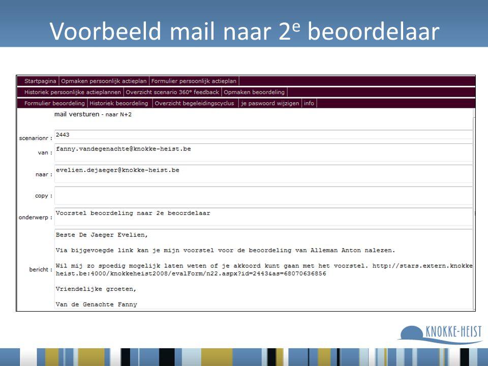 Voorbeeld mail naar 2 e beoordelaar
