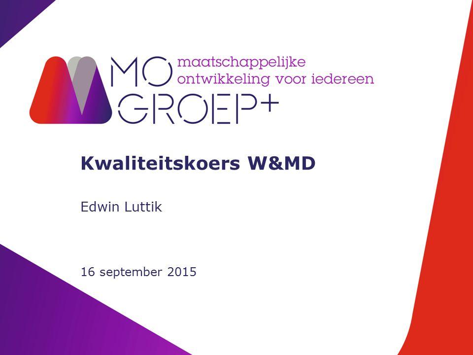 Kwaliteitskoers W&MD Edwin Luttik 16 september 2015