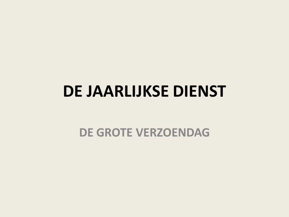 DE JAARLIJKSE DIENST DE GROTE VERZOENDAG