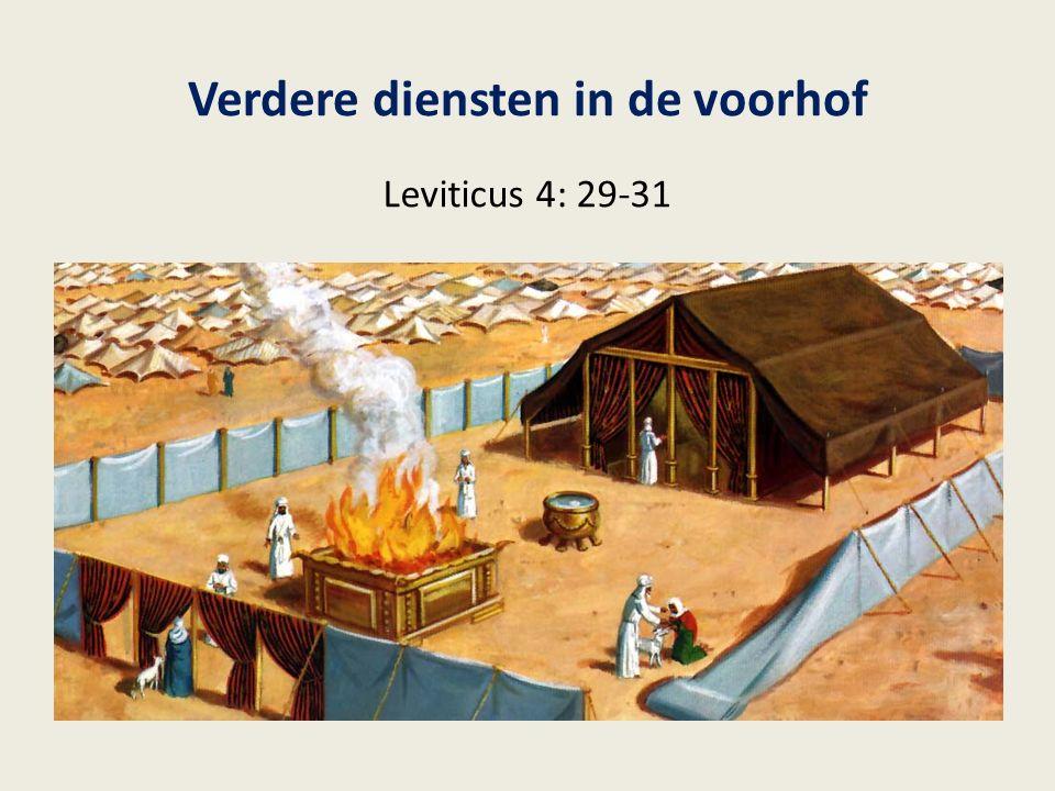 Verdere diensten in de voorhof Leviticus 4: 29-31