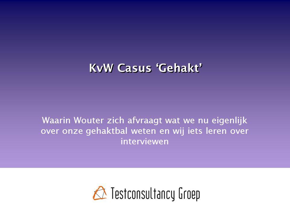 KvW Casus 'Gehakt' Waarin Wouter zich afvraagt wat we nu eigenlijk over onze gehaktbal weten en wij iets leren over interviewen