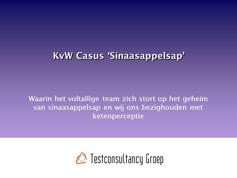 KvW Casus 'Sinaasappelsap' Waarin het voltallige team zich stort op het geheim van sinaasappelsap en wij ons bezighouden met ketenperceptie