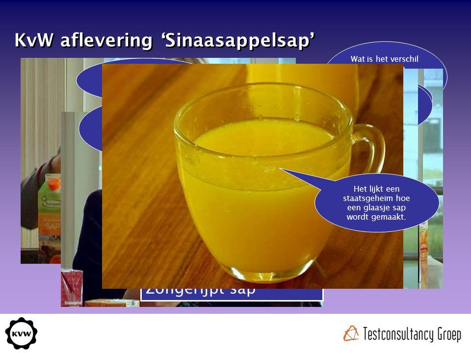 KvW aflevering 'Sinaasappelsap' Wat is het verschil tussen een versgeperste sinaasappel en sap uit concentraat.
