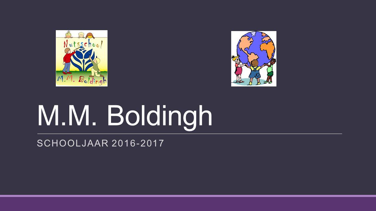 M.M. Boldingh SCHOOLJAAR 2016-2017