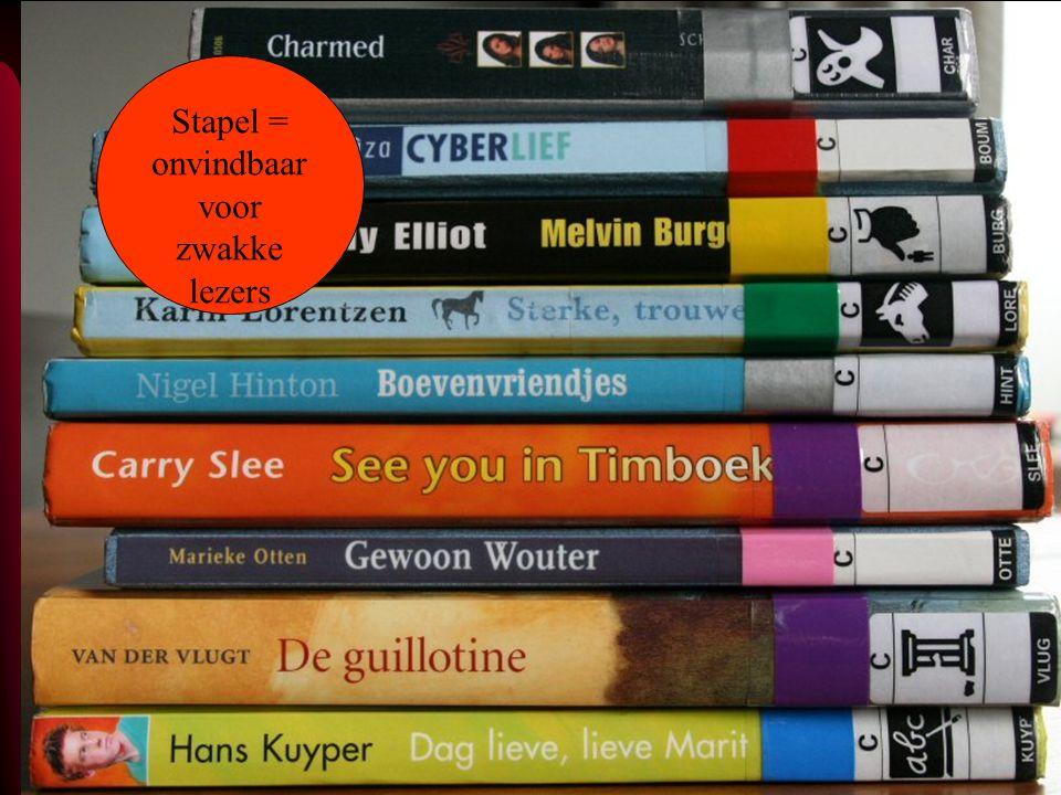 Stapel = onvindbaar voor zwakke lezers