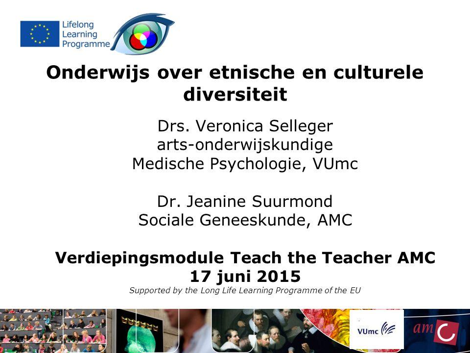 Onderwijs over etnische en culturele diversiteit Drs.